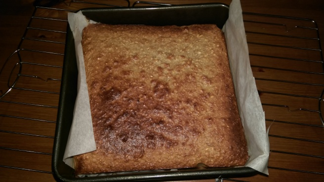 Fresh from the oven. It doesn't look like much here, if only you had smell-a-vision!