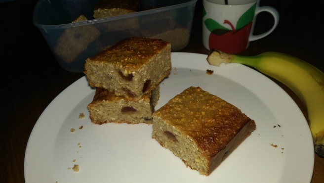 Cherry and Almond Oatmeal Squares